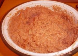 Guiso de harina tostada