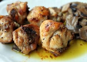 Pollo al ajo