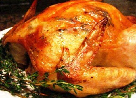 Pollo relleno con choclos