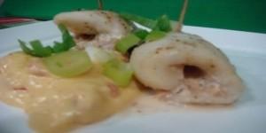 rollitos de pescado en salsa
