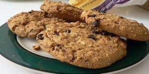 galletas de avena con pasas y nueces