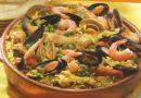 Paella de Carnes y Mariscos