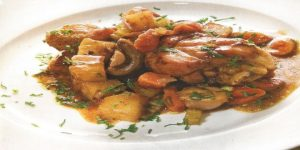 Estofado de pollo y verduras