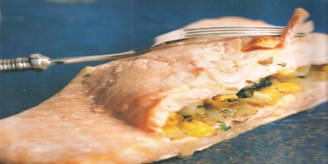Filetes de salmón rellenos