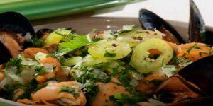 Choritos en salsa verde