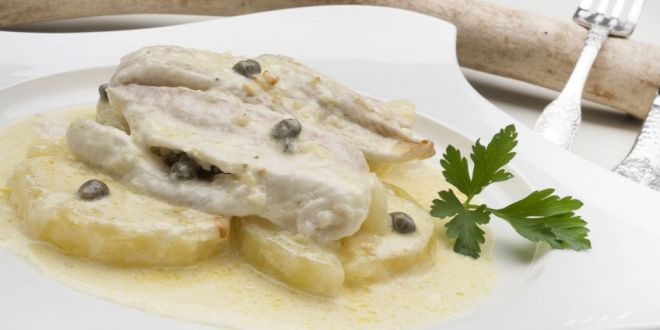 Filetes de lenguado a la crema