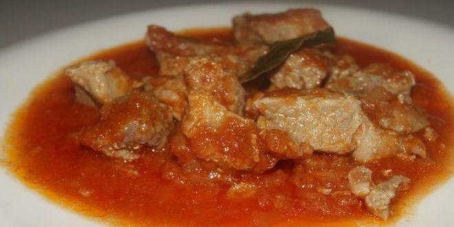 pulpa de cerdo en salsa